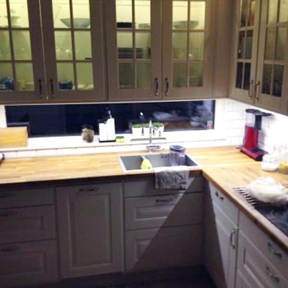 LED strip i kök - Bilder från färdigt kök