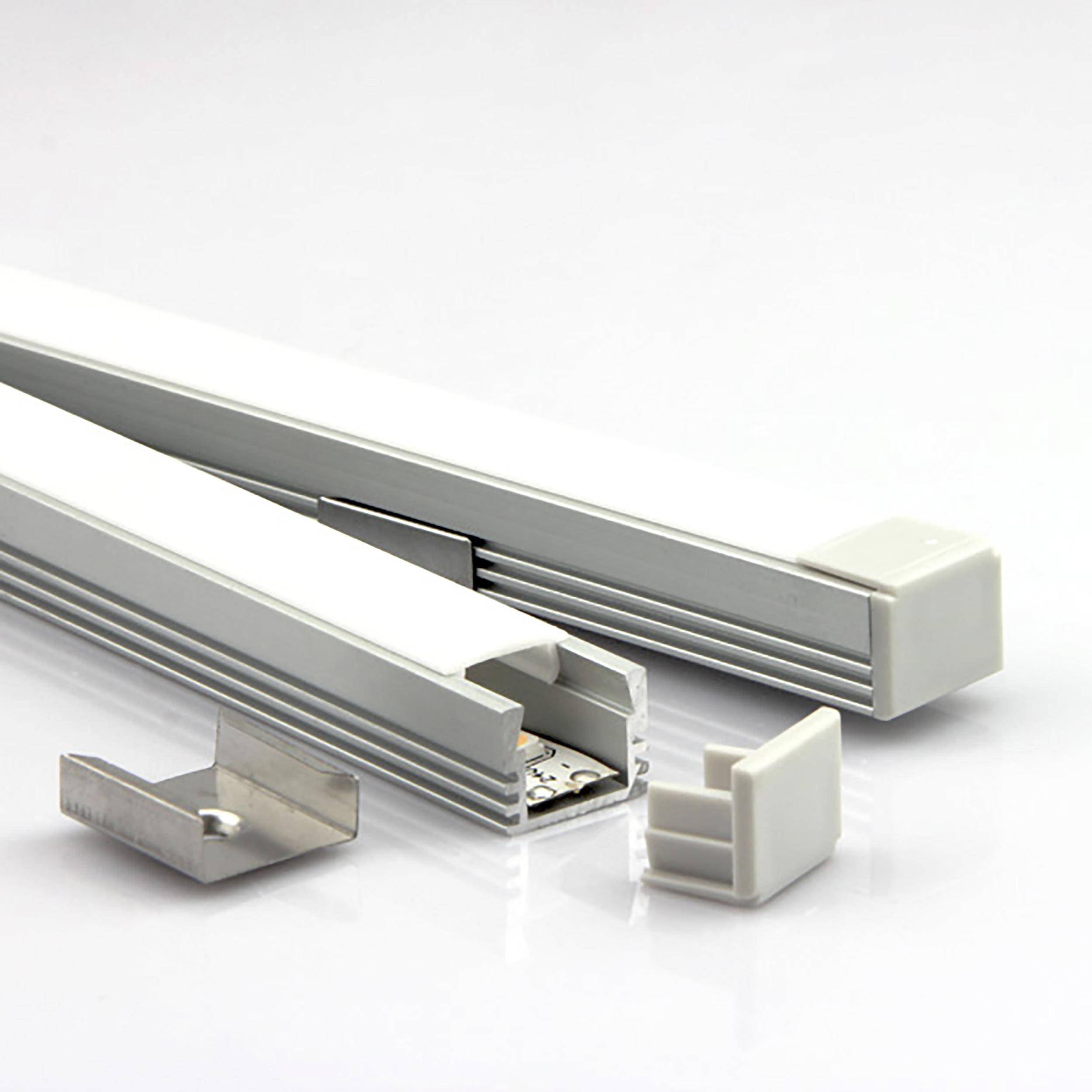 Aluminiumprofiler för montering av LED tejp