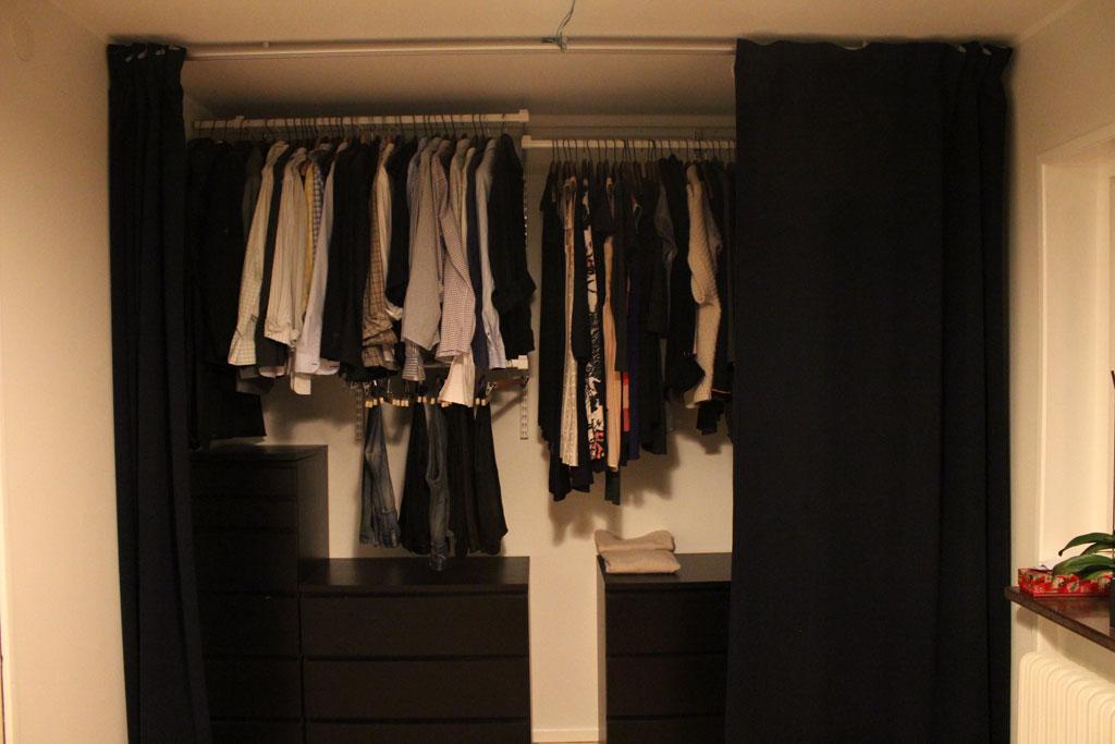 Garderob utan belysning